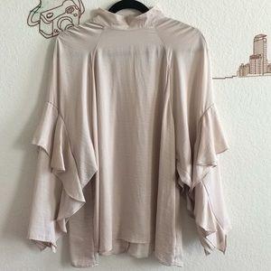 H&M Conscious Ruffle Long Sleeve Blouse
